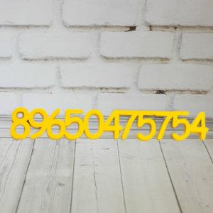 Номер из дерева для автомобилиста
