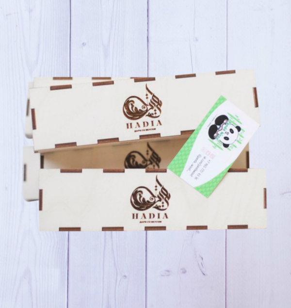 Деревянные коробки с гравировкой