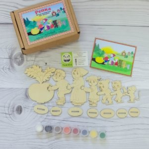 Деревянная игрушка раскраска — Репка