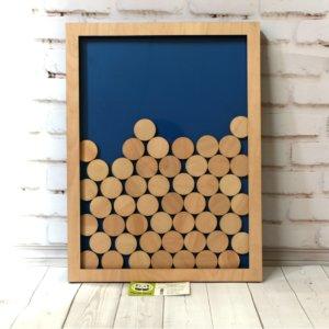 Рамка из дерева для  свадебных пожеланий