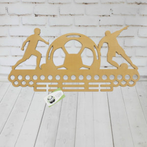 Медальница для футболиста из дерева