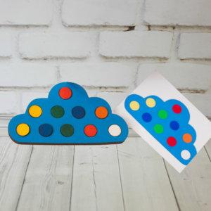 Деревнная развивающая игрушка — Облако