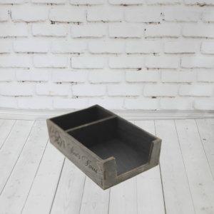 Деревянная подставка для соли/перца и салфеток