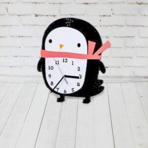 Декор детской комнаты — Часы пингвин
