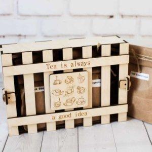 Набор ароматного чая в деревянной коробке