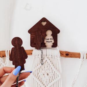 Ключница настенная, вешалка для ключей «Человечки»
